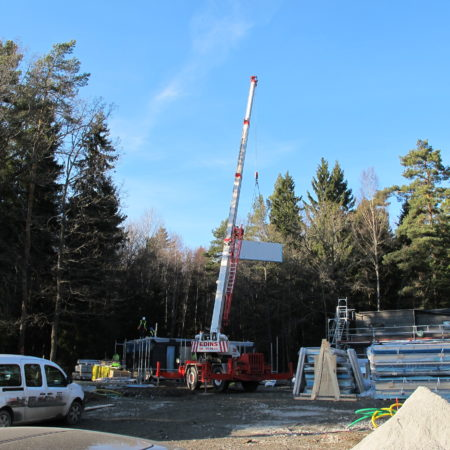 prefab trähus camping house project