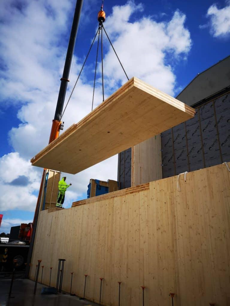 Koka paneļu māja, CLT mājas būvniecība NL